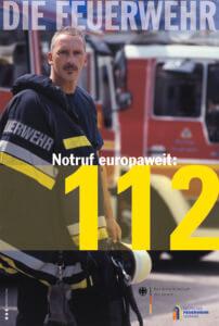 Notruf europaweit: 112 - Aktionsplakat zum Europäischen Tag des Notrufs