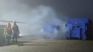 Mülleimerbrand bei der Firma Gollmer&Hummel