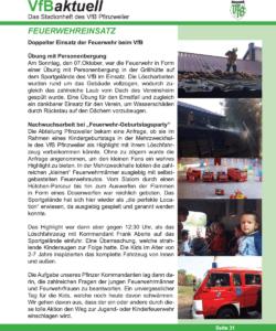 Bericht aus dem Stadionheft des VfB Pfinzweiler