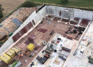 Der Neubau aus der Vogelperspektive: Hier wird am 13. September der Grundstein gelegt.